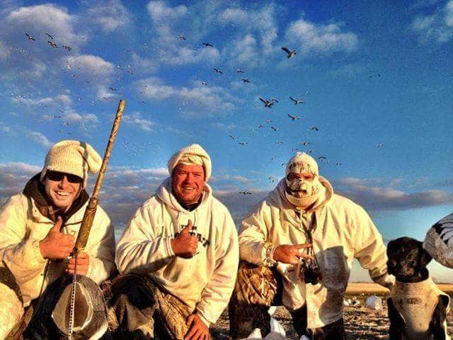 Hunting Snow Geese over Decoys