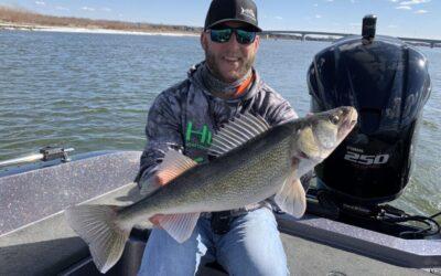 Pre-Spawn River Walleye Fishing