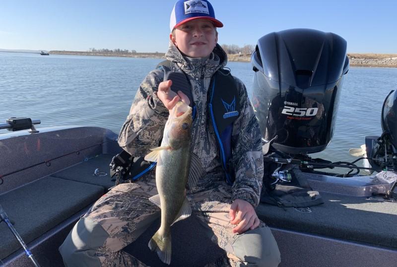 Fishing Walleye in a River